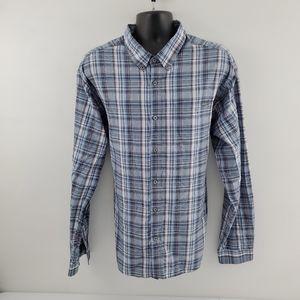 Eddie Bauer Button down shirt 3XL plaid p43